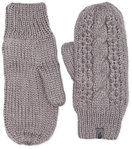 The North Face Cable Knit Mitt Womens Metallic Silver L-XL