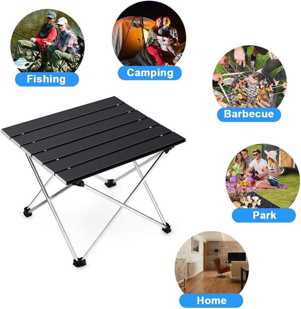 CXYDP Leichtklapp Camping Tisch Hocker Stuhl Set Mit Tischplatte Aus Aluminium Und Tragetasche Präfekten Für Outdoor, Picknick, Kochen, Strand, Wandern, Angeln B