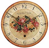Roger Lascelles Bouquet Emilie Rose Wall Clock, 13.4-Inch For Sale