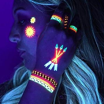 c0ccbdd74a1f5 UV Tattoos: Daytime and Blacklight Colored Tattoos | (Pattern Design 1) |  Rave