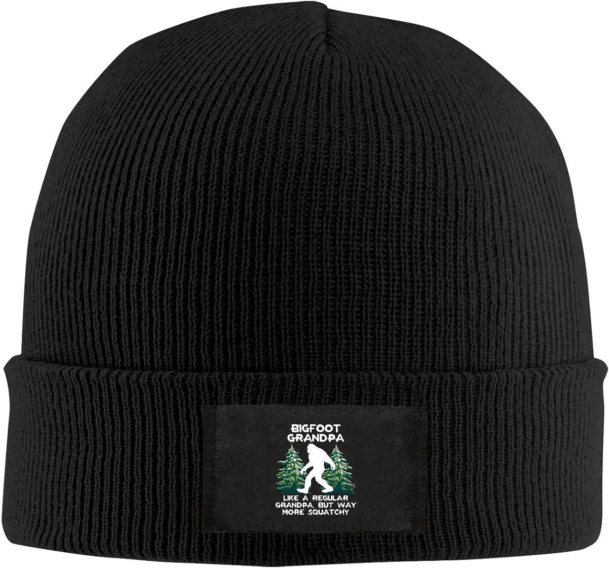 LRHUI Bigfoot Winter Knitted Hat Warm Wool Skull Beanie Cap