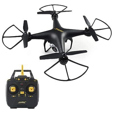 40 Minutos Tiempo de Vuelo RC Drone, H68 FPV Quadcopter con cámara 720P HD Vídeo en Vivo Transmisión en Tiempo Real Modo sin Cabeza Altitud Sostener helicóptero 2 baterías - Negro: Juguetes y juegos