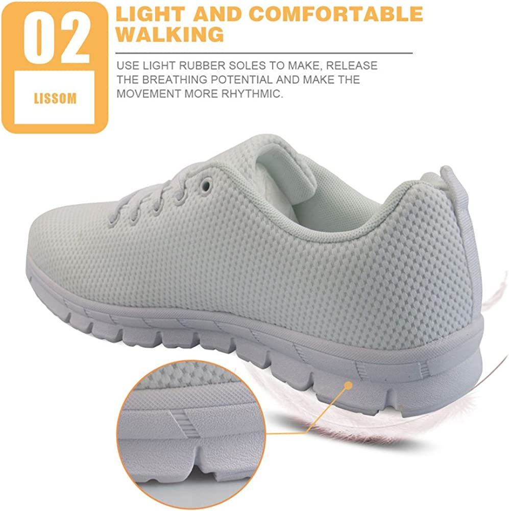Nopersonality Baskets Mode Chaussures de Sport Femme Running Léger Respirantes Course Sneakers Multisports Outdoor Casual Flower Nurse