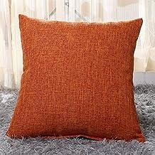Pillowcase Covers, U'artlines Slubbed Linen Orange Pillow Case Decorative Cushion Cover Pillowcase for Sofa Pillow Cover
