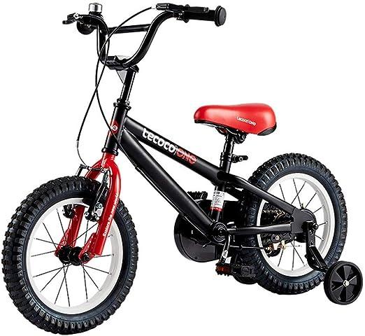 Bicicletas Bicicleta para niños de 3 a 8 años de Edad Bicicleta Masculina Bicicleta de montaña bebé Bicicleta niño niña vehículo Urbano Todo Terreno Bicicleta de 16 Pulgadas (Negro, 16 Pulgadas): Amazon.es: Hogar