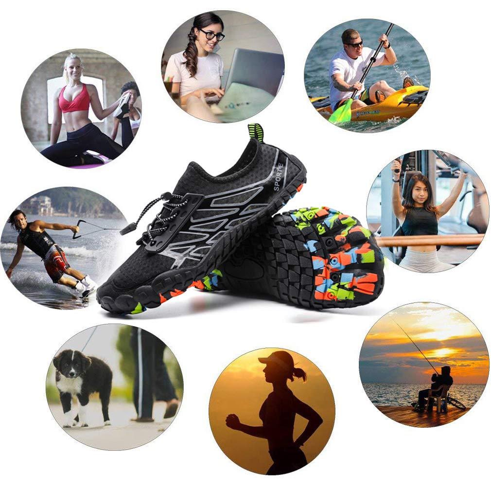 BKOOC Zapatillas Hombre Descalzo Zapatos Agua Zapatos Nadar Zapatos Zapatos de Playa Zapatos para Agua Zapatos de Deporte Secado r/ápido Anti-Deslizante Zapatillas de Deporte Zapatos Acuaticos