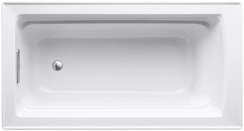 White KOHLER K-1123-0 Archer 5-Foot Bath