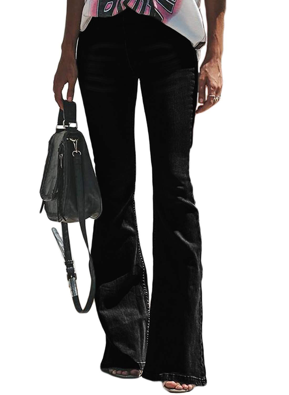 Aleumdr Mujer Pantalones Acampanados Vaqueros Cintura Alta Jeans de Mujer Size S-XXL product image