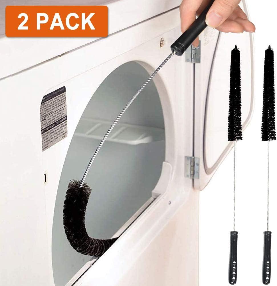 2 Pack Dryer Vent Cleaner Kit Dryer Lint Brush Vent Trap Cleaner Long Flexible Refrigerator Coil Brush