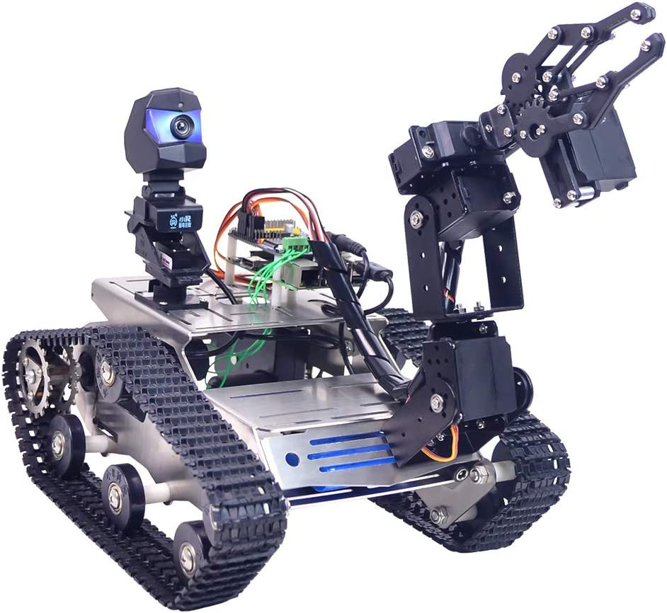 Foxom Programable Robot para Arduino Mega, Smart Robot Car Kit con Arm, WiFi, módulo Bluetooth, FPV, Camara HD - Compatible con Arduino / Raspberry Pi: Amazon.es: Juguetes y juegos