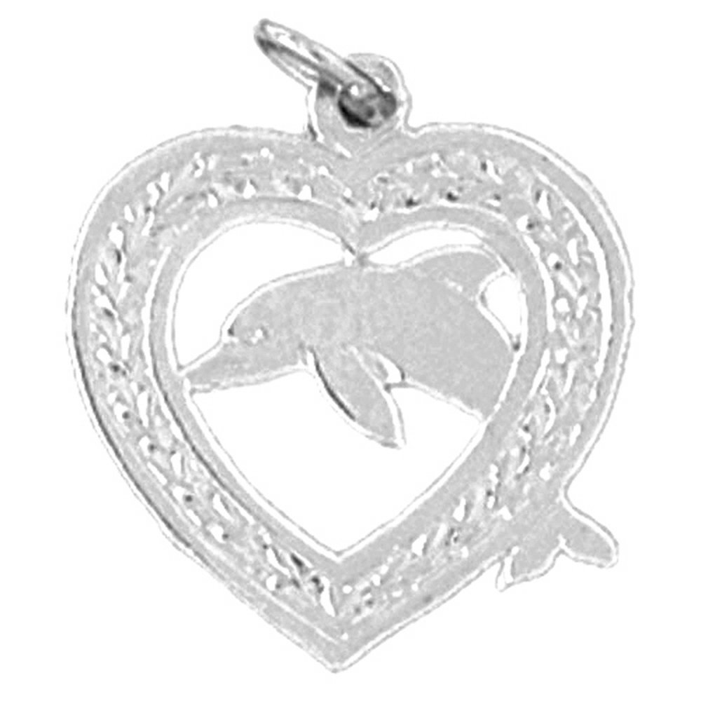 20 mm Jewels Obsession Dolphin Pendant Sterling Silver 925 Dolphin Pendant