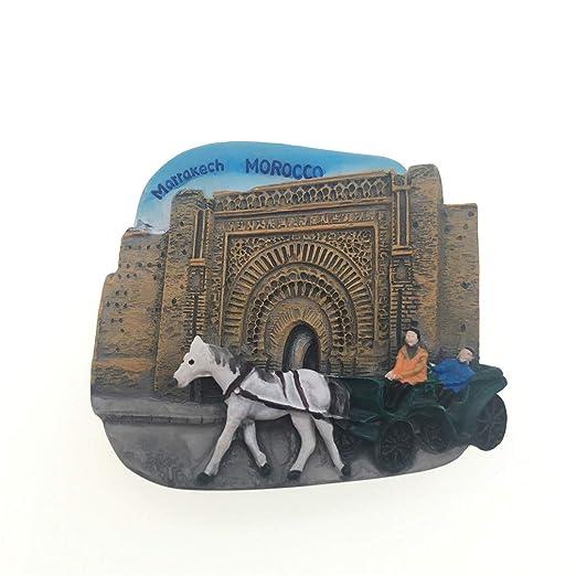 Weekinglo Souvenir Bahia Palace Marruecos Imán de Nevera 3D Resina ...