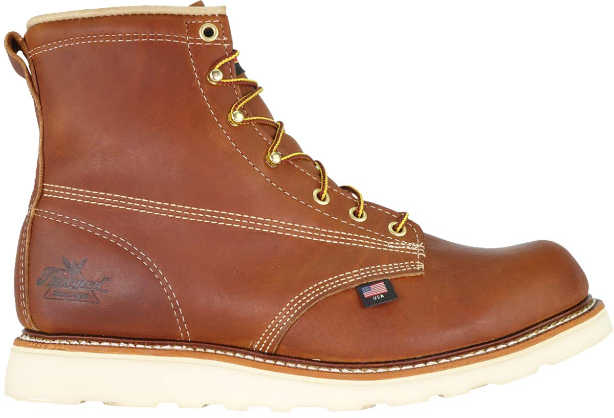 Thorogood 814-4355 Men's American Heritage 6'' Round Toe, MAXWear Wedge Non-Safety Toe Boot, Tobacco Oil-Tanned - 6.5 2E US by Thorogood (Image #2)