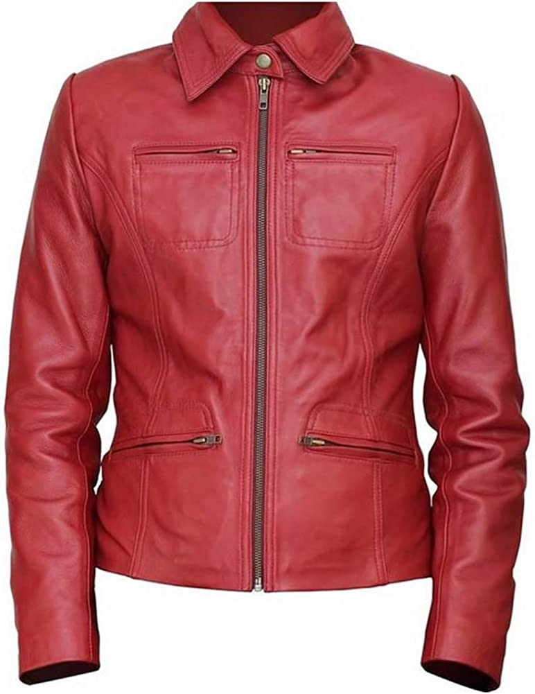 SRHides Womens Once Upon a Time Fashion Real Leather Jacket