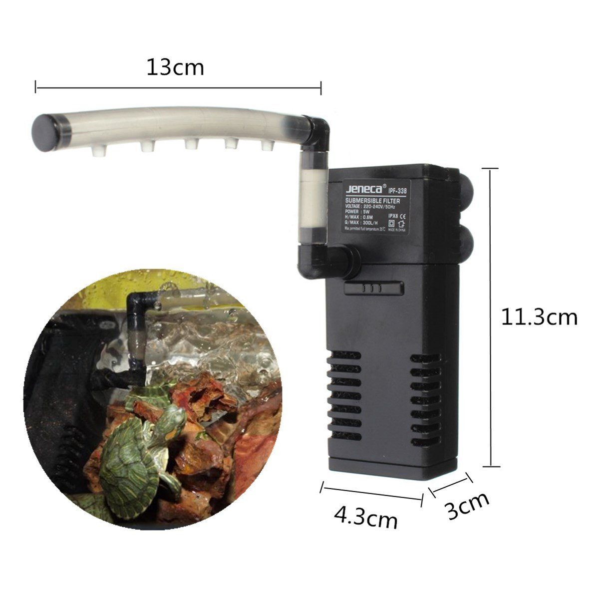 Amazon.com : [Free Shipping] 300L/H Aquarium Fish Tank Internal Submersible Filter Pump With Spray Bar // 300l / h acuario pecera bomba del filtro ...