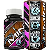 Skinny Mini Jitter Free Fat Burner Formula For Women • Quickly Reduce Body Fat Without Shakes • Combat Stress With Powerful Antioxidants • Boost Mood • Tighten • Tone • Made in USA • Vegan Friendly