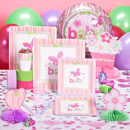 Carteru0027s Baby Girl Baby Shower Deluxe Party Pack For 16