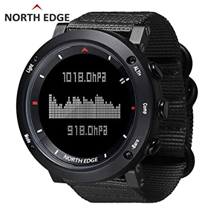 RENYAYA North Edge Deporte de los Hombres Reloj Digital Horas Running natación Deportes Relojes Altímetro Barómetro