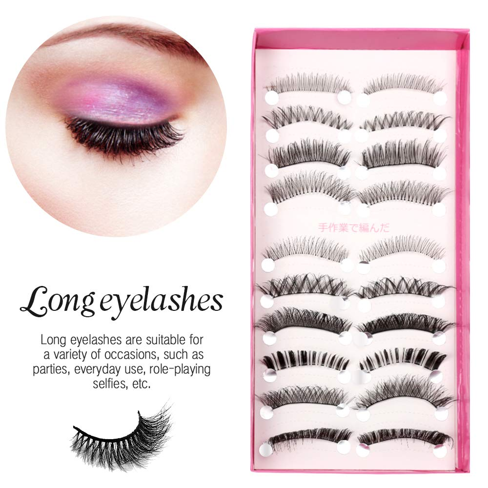 2284a7a226f Amazon.com : Teenitor Anime Eyelashes, 20 Pair 20 Desgin Japanese Cosplay  Eyelash Fake False Upper Lower Eyelash Lower Lashes False Eyelashes With  Eyelashes ...