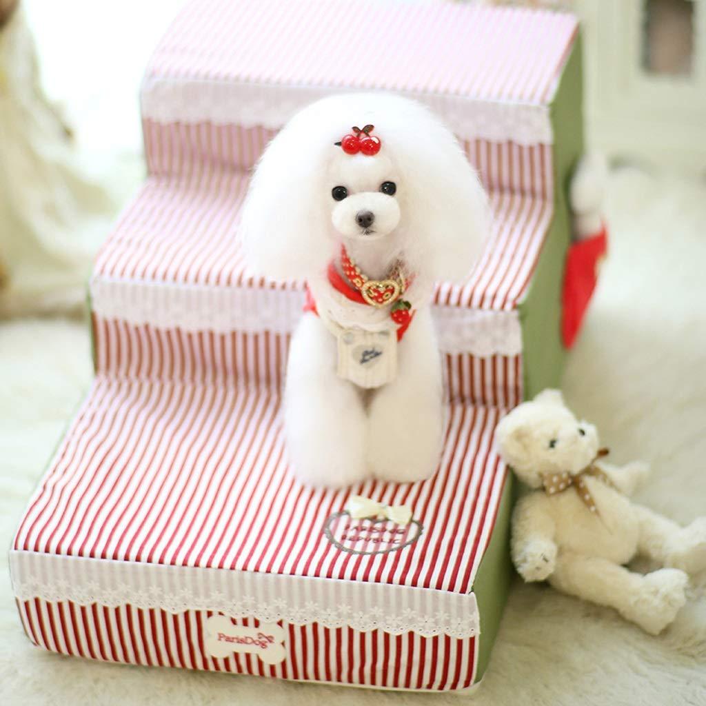 prezzo all'ingrosso JXXDDQ JXXDDQ JXXDDQ Scale per Animali Domestici Scale per Cani Scale in Spugna Piccoli Cani Scale da Comodino Scale amovibili (colore   Red)  contatore genuino