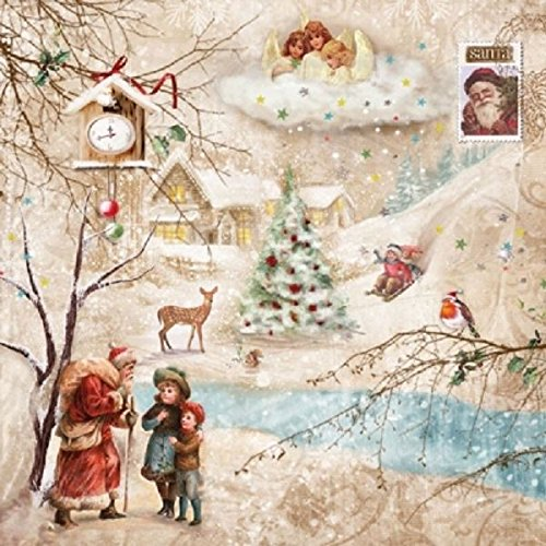 4 x Paper Napkins - Winter Wonderland - Ideal for Decoupage / Napkin Art CraftyThings