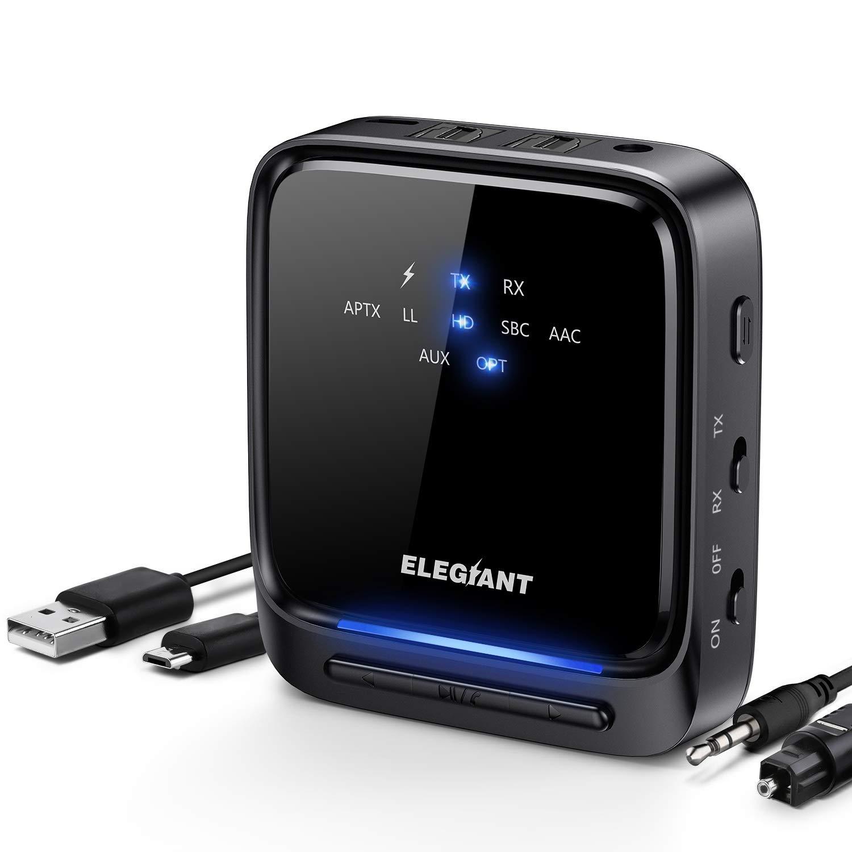 Transmisor Receptor Bluetooth 5.0 ELEGIANT Aptx Optica ELEGI