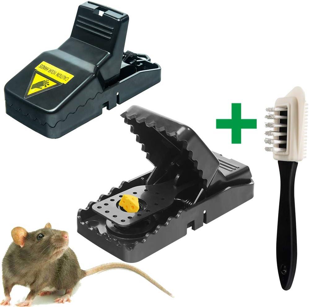 HOOMAGIC Mausefalle 8er Set Profi M/äusefalle Schlagfalle Rattenfalle Wiederverwendbar M/äusefalle in Haus Garten Drinnen Drau/ßen