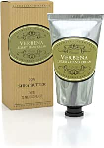 Naturally European Verbena Luxury Hand Cream Boxed 20% Shea Butter - 75ml| Combats Dry Skin For Those Hardworking Hands | Hand Cream, Hand Cream for Very Dry Hands, Shea Butter