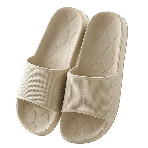 Mianshe Slip On Pantofole Doccia Antiscivolo Sandali House Schiume Mule suola scarpe Piscina Bagno Slide per adulti arancione EU39-40 SNixAs