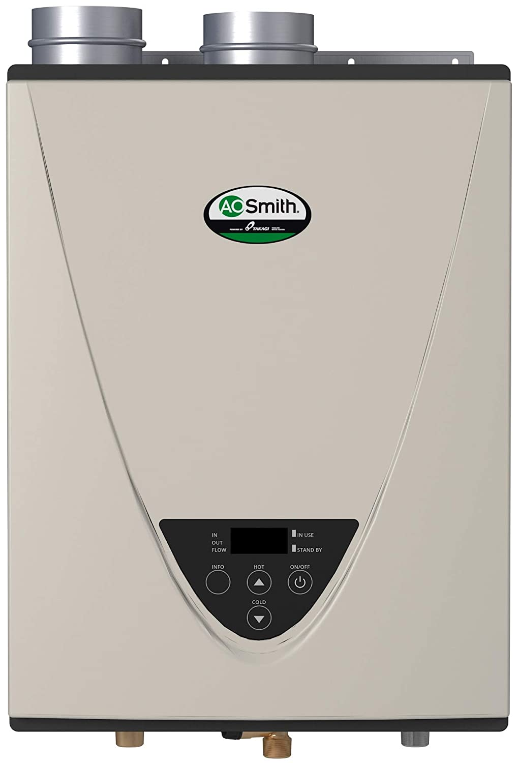 AO Smith ATI-340H-N 8 GPM Residential/Commercial Condensing Natural Gas Indoor Tankless Water Heater with 180000 Maximum BTU Input