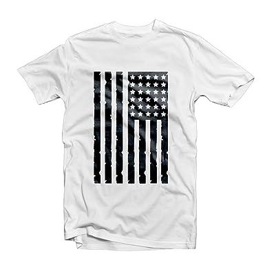 56d47609b USA DISTRESSED FLAG T SHIRT 1091 - America LA Brooklyn New York NYC Dope  Fresh Urban