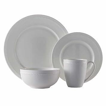Roscher 32-pc. Braid Bone China Dinnerware Set  sc 1 st  Amazon.ca & Roscher 32-pc. Braid Bone China Dinnerware Set: Amazon.ca: Home ...