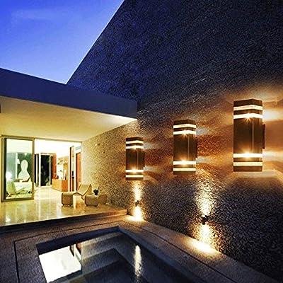 Amazon.com: Luces de pared para exteriores de aluminio ...
