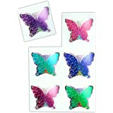 4X STICKERS FROM BUTTERFLY 23X10 CM NEW STICKERS299