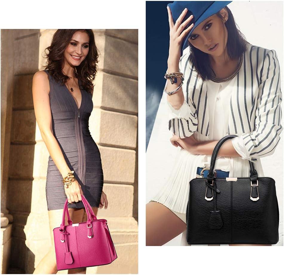 Purses and Handbags for Women Fashion Messenger Bag Ladies PU Leather Top Handle Satchel Shoulder Tote Bags