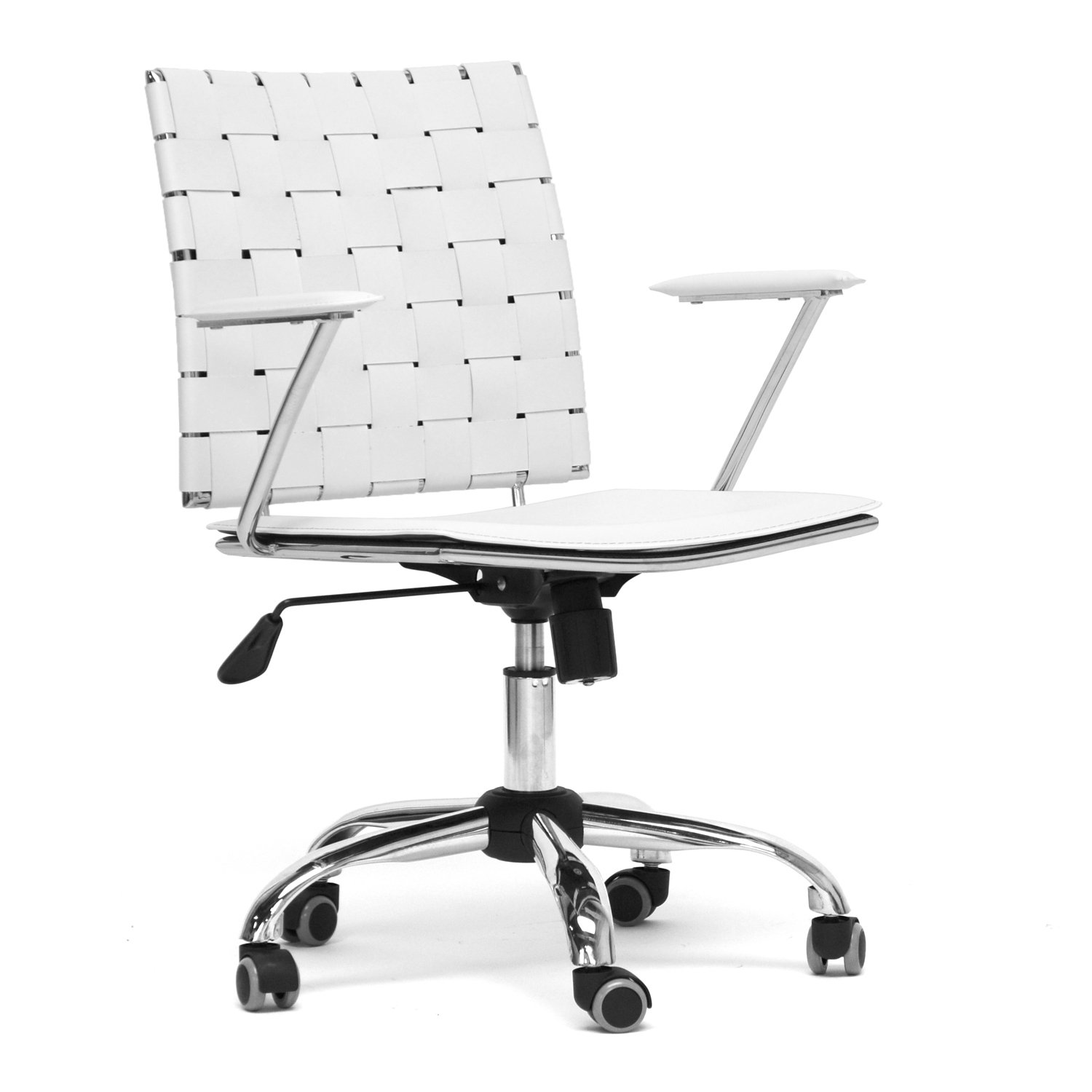 Amazon.com: Baxton Studio Vittoria White Leather Modern Office ...