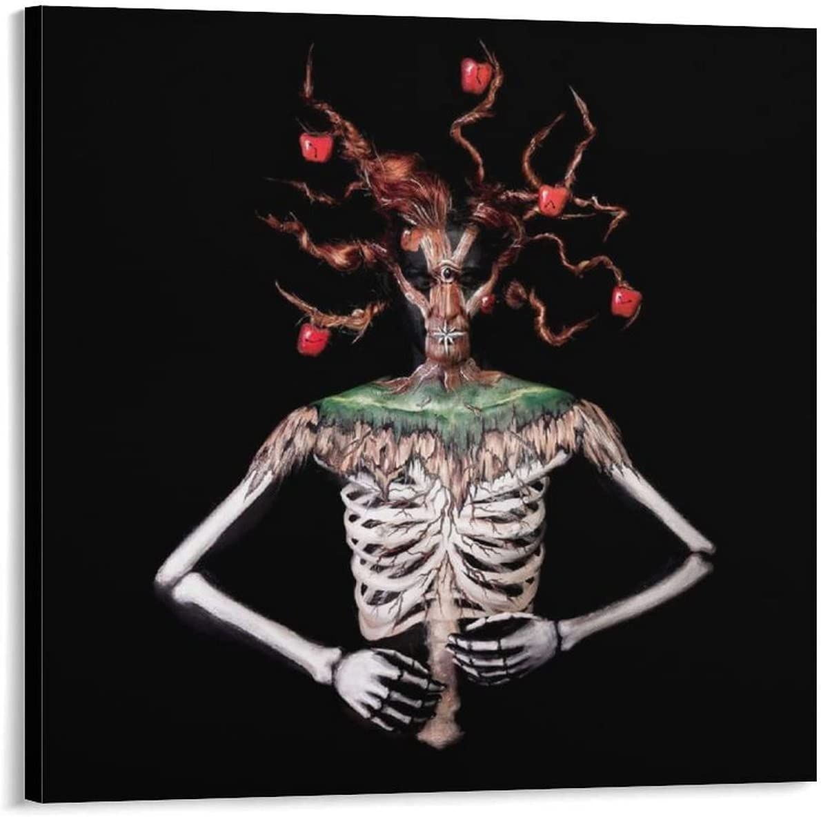 YuFeng_Art_Inn Picture Frames Body Art and Animal Bones Room Decor Wall Decor Paintings Canvas Art Poster and Wall Art Picture Print Modern Family Bedroom Decor Posters 24×24inch(60×60cm)
