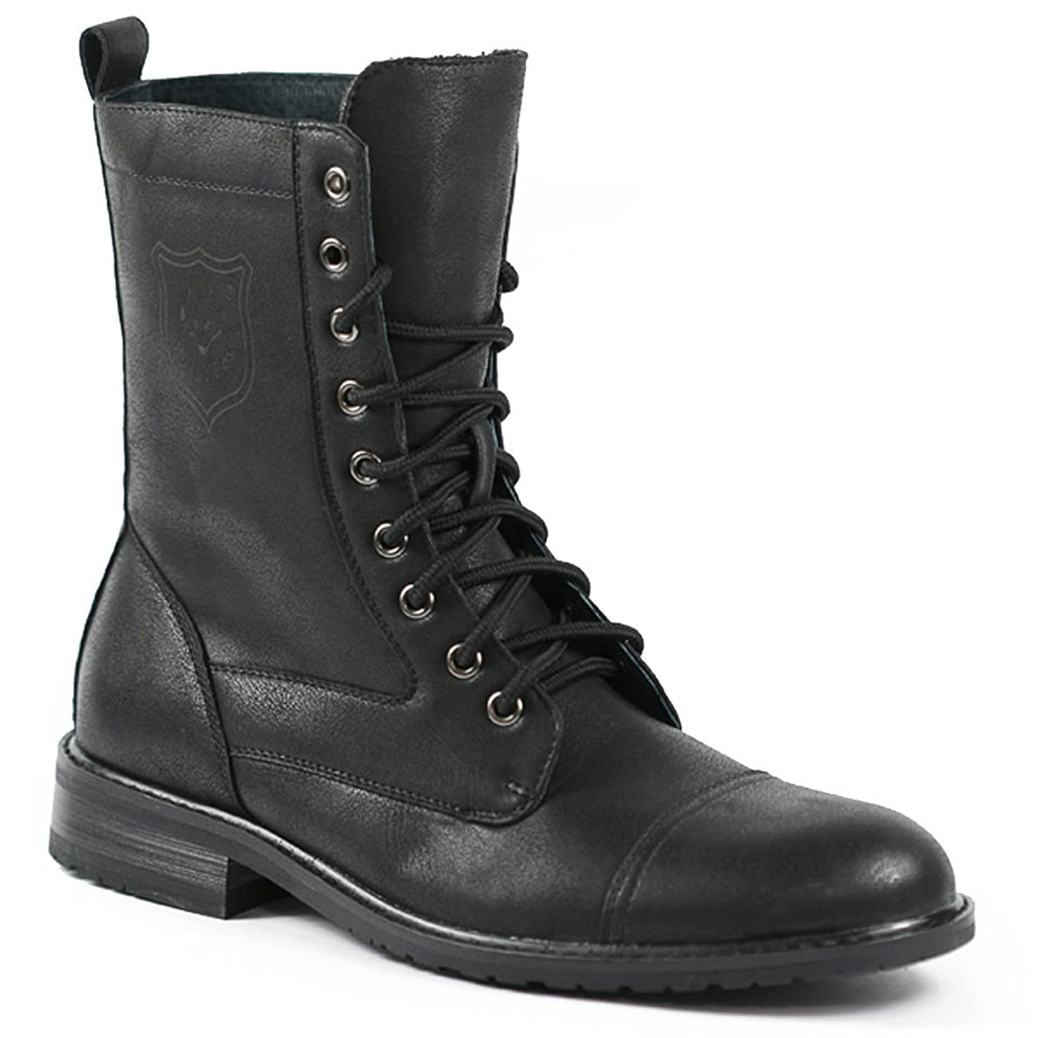 Amazon.com: Polar Fox MPX-801026 Black Mens Lace Up Military ...