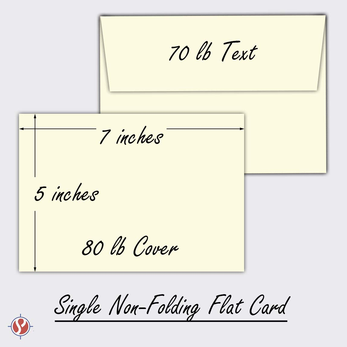 Cream/Natural/Off White, Heavy Blank Note Cards and Envelopes Size 5 X 7-50 Per Pack. - This Is Not a Fold Over Card. (Ivory) by S Superfine Printing (Image #5)