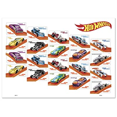 2020 Hot Wheels Forever Stamps by USPS (1 Sheet of 20): Office Products