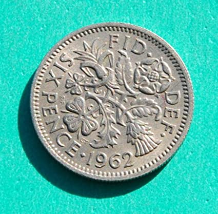 Queen Elizabeth II - 1962 Six Pence Coin #2