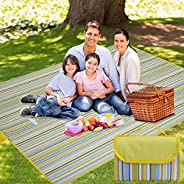 Picnic Blanket Mat Waterproof Extra Large, Travel Outdoor Blanket with Waterproof Backing for Family, Picnic,