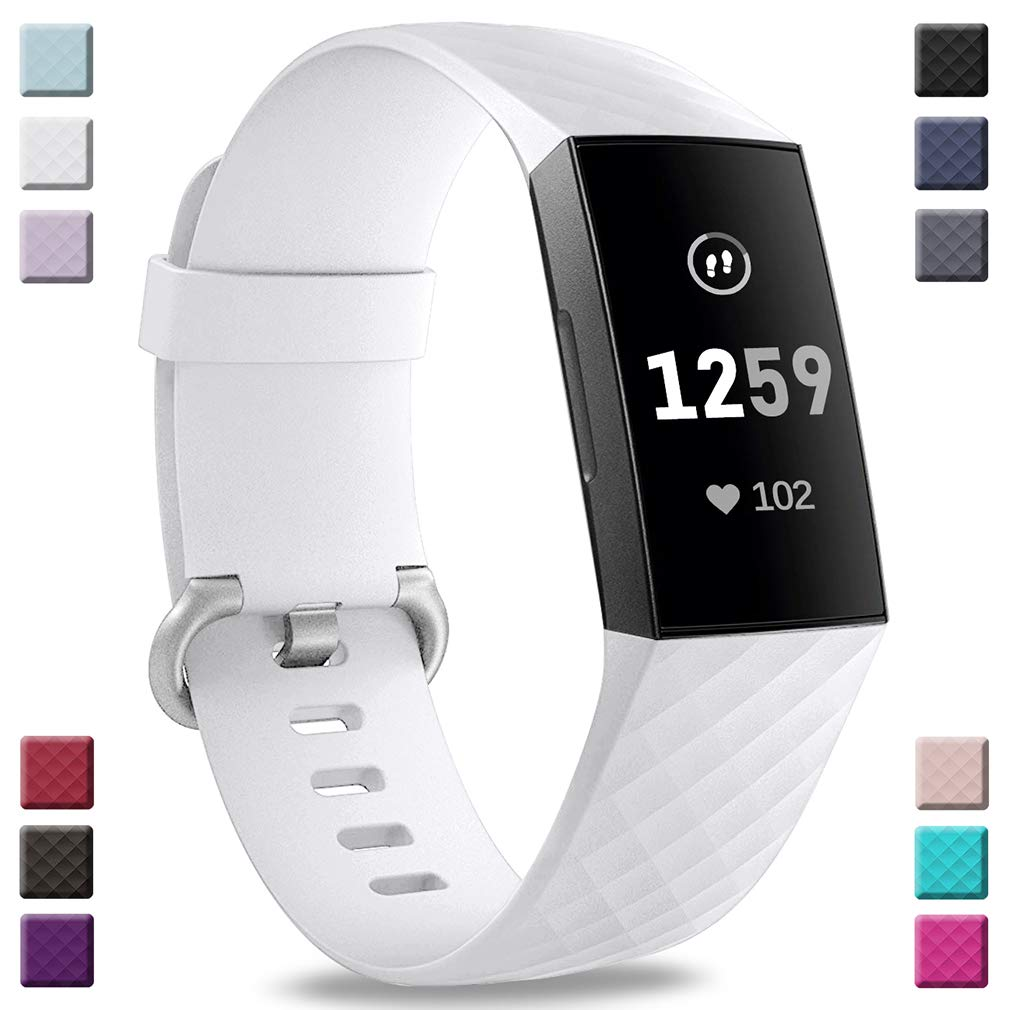 Malla Para Reloj Fitbit Charge 3 Y Charge 3 Se (blanco)