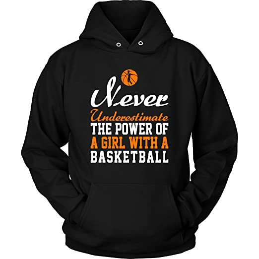 Amazoncom Basketball Hoodie T Shirt Never Underestimate The
