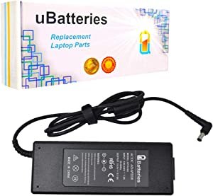 UBatteries Compatible 120W AC Adapter Charger Replacement For Sony Part# VGP-AC19V45 VGP-AC19V46 Fits Sony Vaio VGN-AW VGNAW VPCF11 VPCF12 VPCF13 VPCF21 VPCF22 VPCF23 VPCF24 VPCZ21 VPCZ22 VPCZ23 Serie