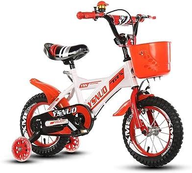 Esafekid Seguros de aleación de Niños de Bicicletas Orange Chicas Bicicleta bicis de niños 12/14/16/18 Pulgadas Carro de bebé Ajustable extraíble Estabilizadores: Amazon.es: Deportes y aire libre