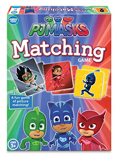 Wonder Forge PJ Masks Matching Game for Boys & Girls Age 3 and Up - A Fun & Fast Memory Game You Can Play Over & Over ()