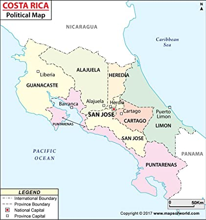 Amazon.com : Political Map of Costa Rica (36\