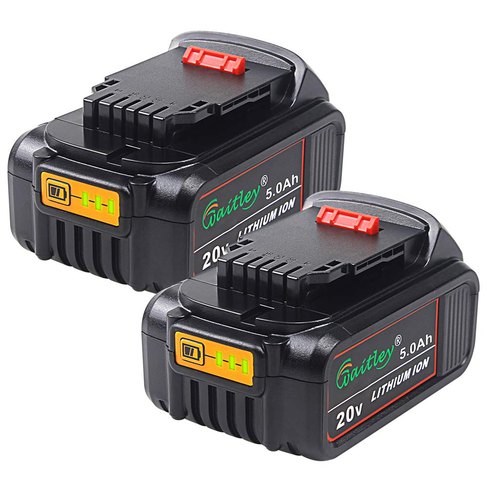 TenMore DCB205 5.0Ah Replacement Battery for DeWalt 20V Max XR DCB200 DCB204 DCD DCG DCF DCS DCK DCL Power Tools,2-Pack