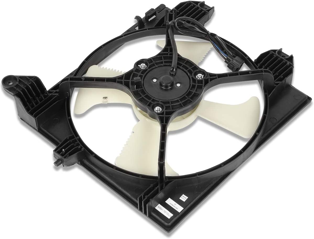 MI3113111 OE Style AC Condenser Cooling Fan Assembly Replacement for Mitsubishi Lancer 02-07